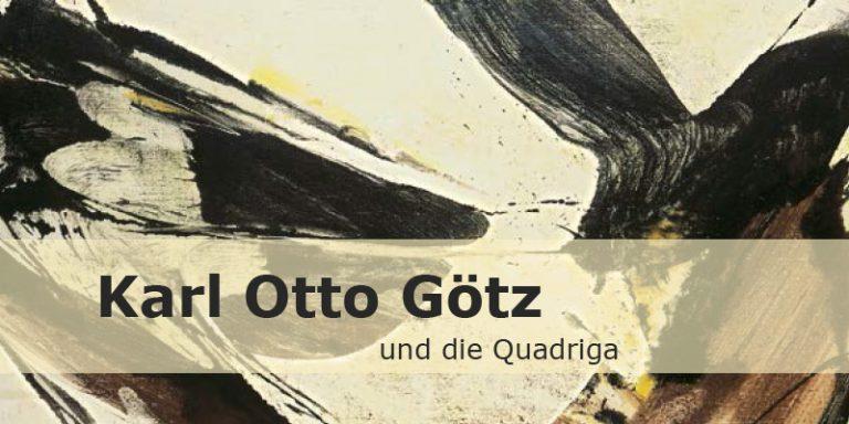 Einladungskarte Ausstellung Karl Otto Götz und die Quadriga 2014 Galerie Maulberger