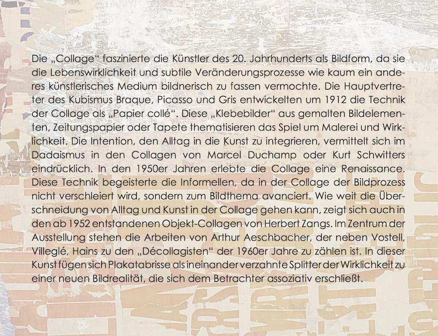 Einladungskarte Ausstellung Collage Décollage 2017 Galerie Maulberger 03