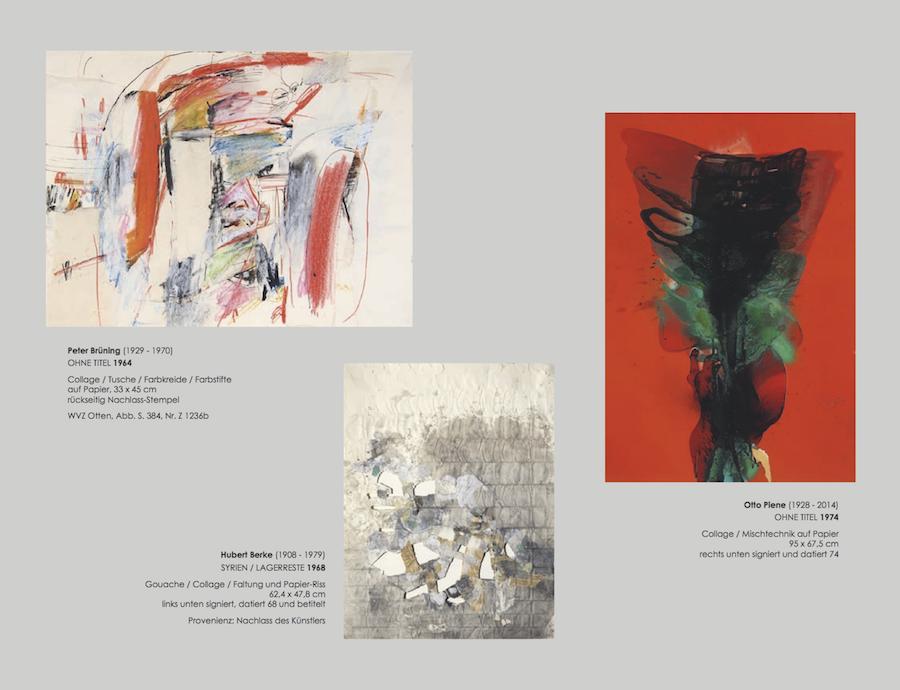 Einladungskarte Ausstellung Collage Décollage 2017 Galerie Maulberger 04