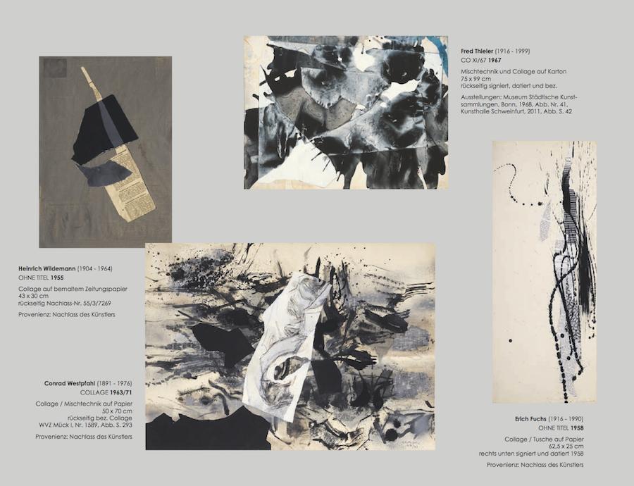 Einladungskarte Ausstellung Collage Décollage 2017 Galerie Maulberger 05