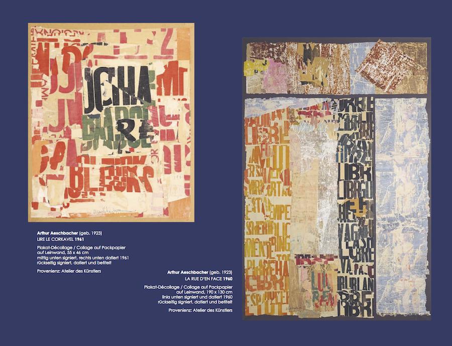 Einladungskarte Ausstellung Collage Décollage 2017 Galerie Maulberger 06