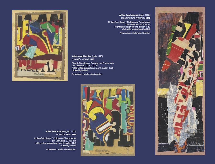 Einladungskarte Ausstellung Collage Décollage 2017 Galerie Maulberger 07