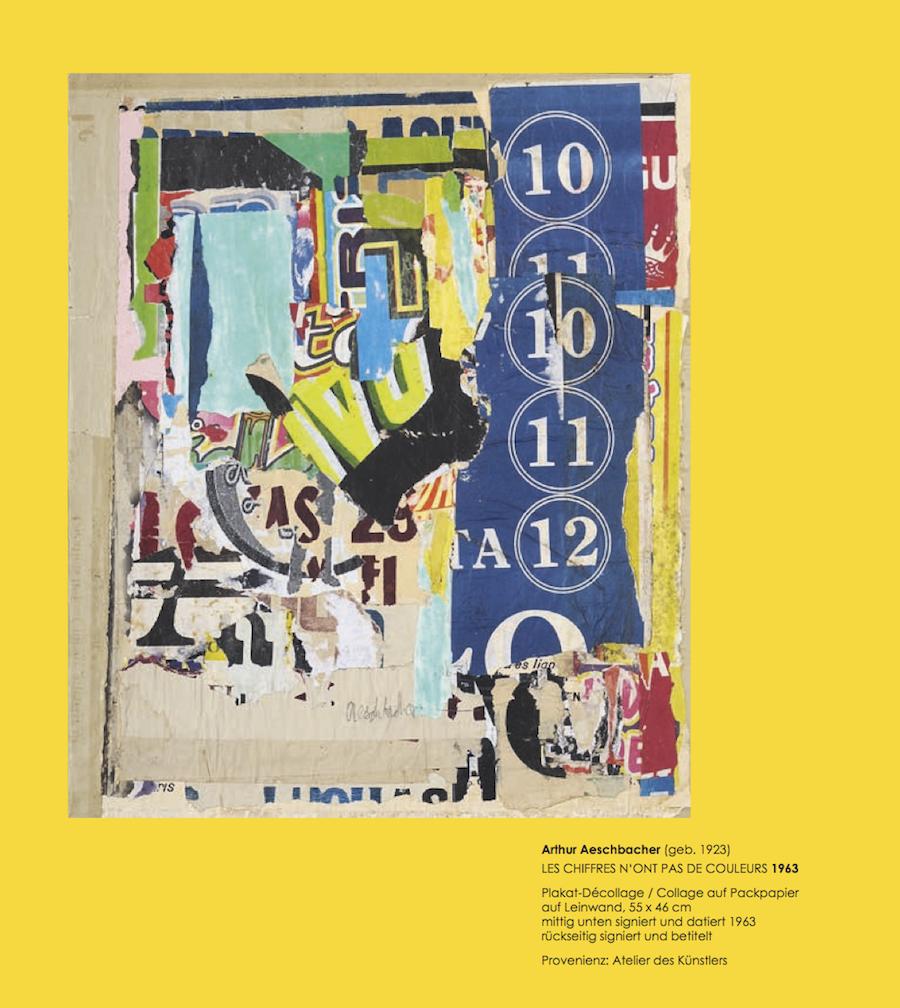 Einladungskarte Ausstellung Collage Décollage 2017 Galerie Maulberger 09