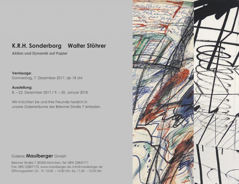 Einladungskarte Ausstellung Sonderborg Stöhrer 2018 Galerie Maulberger 02