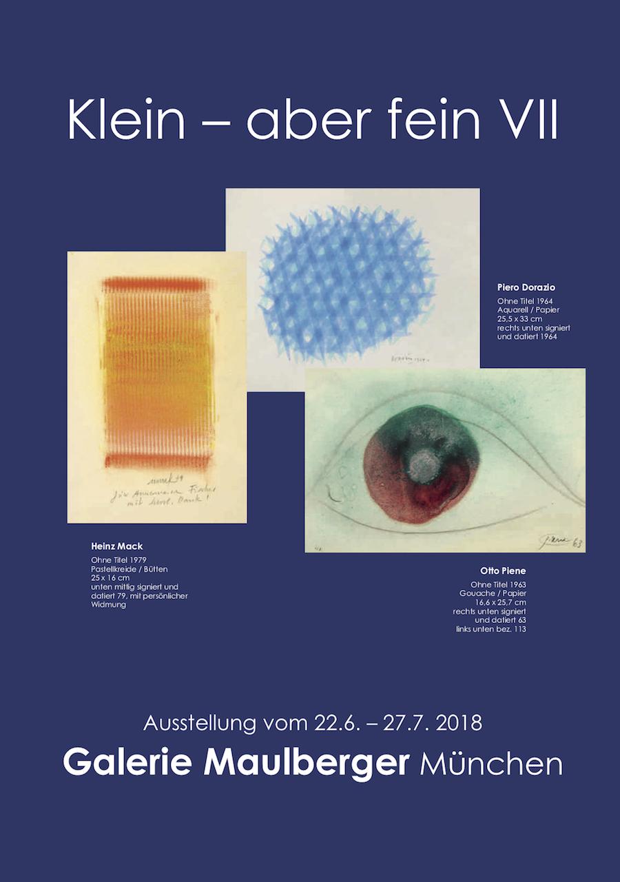 Einladungskarte Ausstellung Klein-aber fein 2018 Galerie Maulberger 01