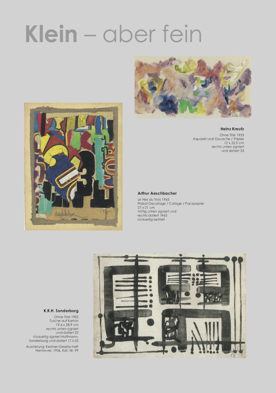 Einladungskarte Ausstellung Klein-aber fein 2018 Galerie Maulberger 03