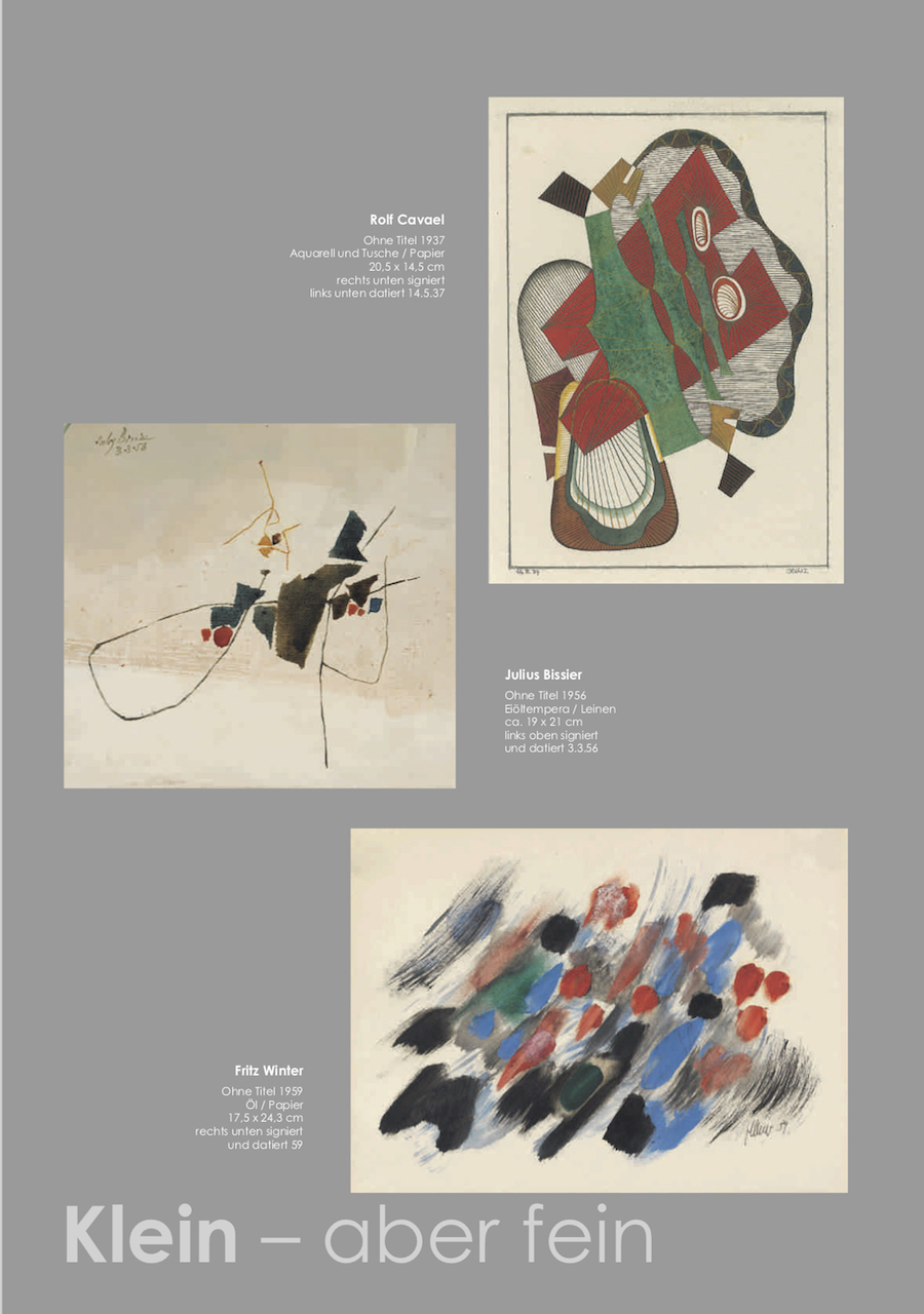 Einladungskarte Ausstellung Klein-aber fein 2018 Galerie Maulberger 04