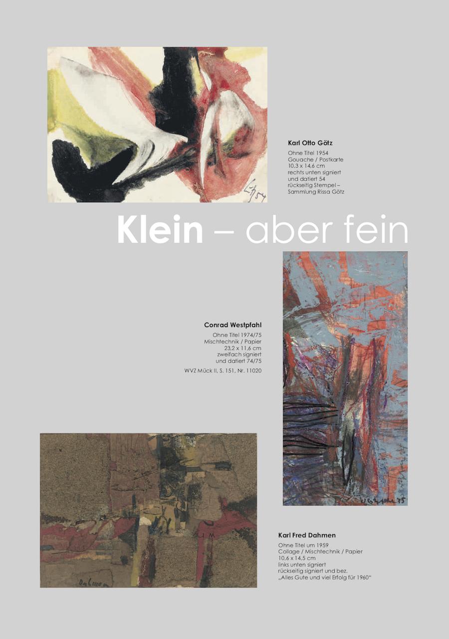Einladungskarte Ausstellung Klein-aber fein 2018 Galerie Maulberger 05