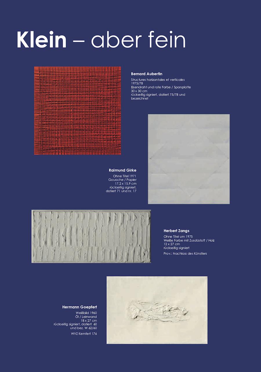 Einladungskarte Ausstellung Klein-aber fein 2018 Galerie Maulberger 06