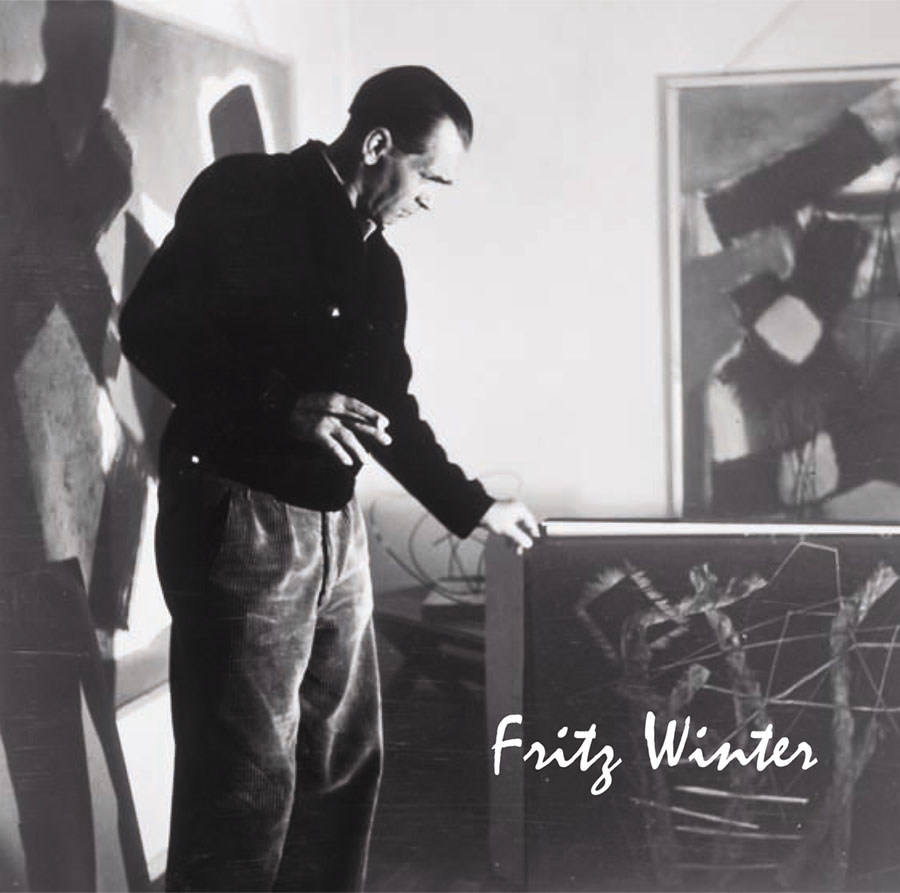 Einladungskarte Ausstellung Fritz Winter 2011 Galerie Maulberger 01