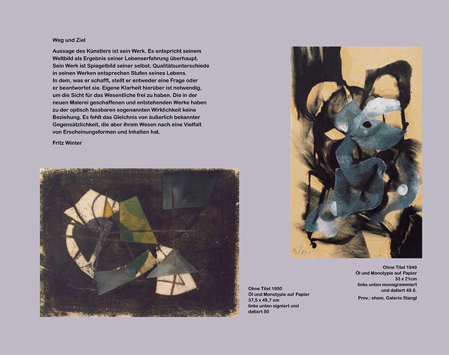 Einladungskarte Ausstellung Fritz Winter 2011 Galerie Maulberger 02