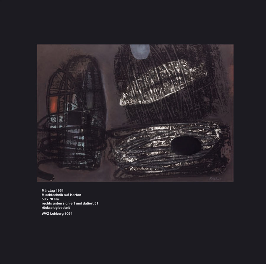 Einladungskarte Ausstellung Fritz Winter 2011 Galerie Maulberger 05