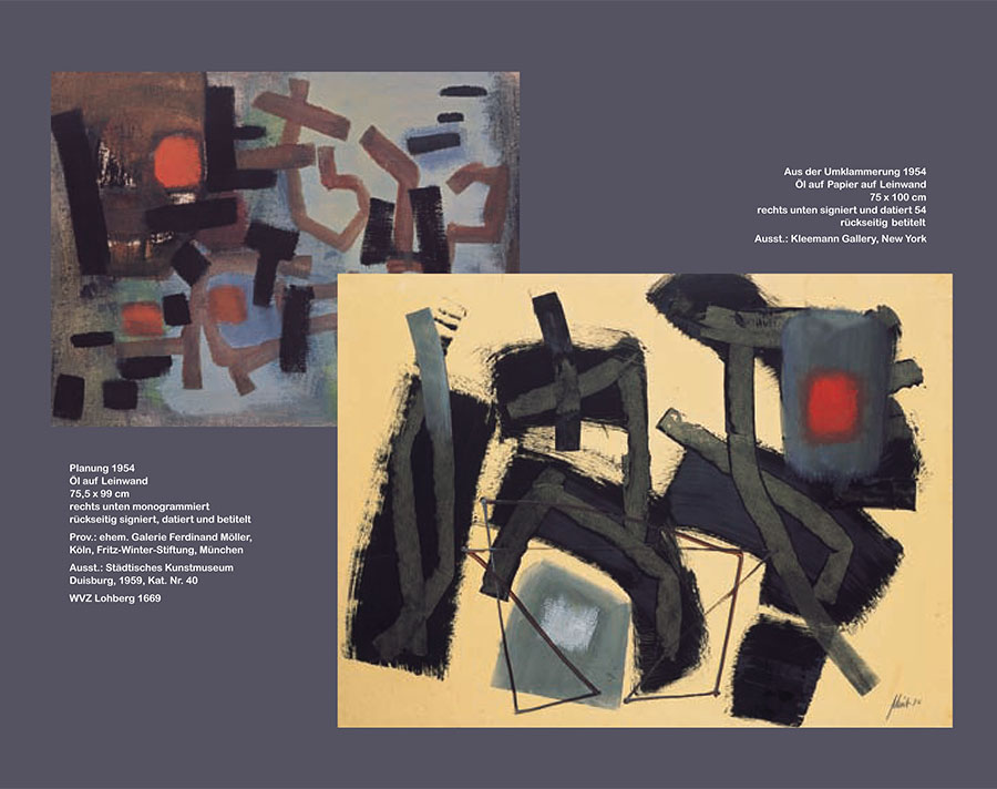 Einladungskarte Ausstellung Fritz Winter 2011 Galerie Maulberger 06