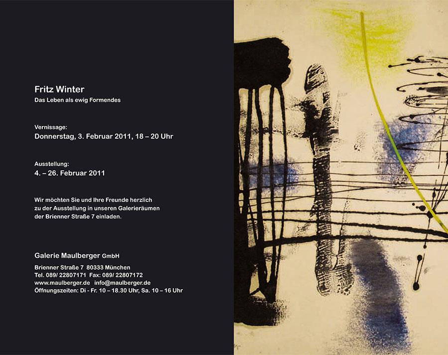 Einladungskarte Ausstellung Fritz Winter 2011 Galerie Maulberger 08