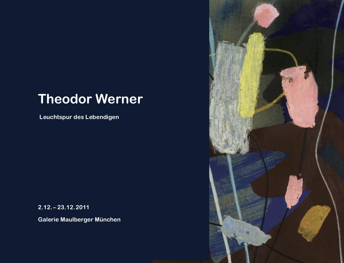 Einladungskarte Ausstellung Theodor Werner 2011 Galerie Maulberger 01