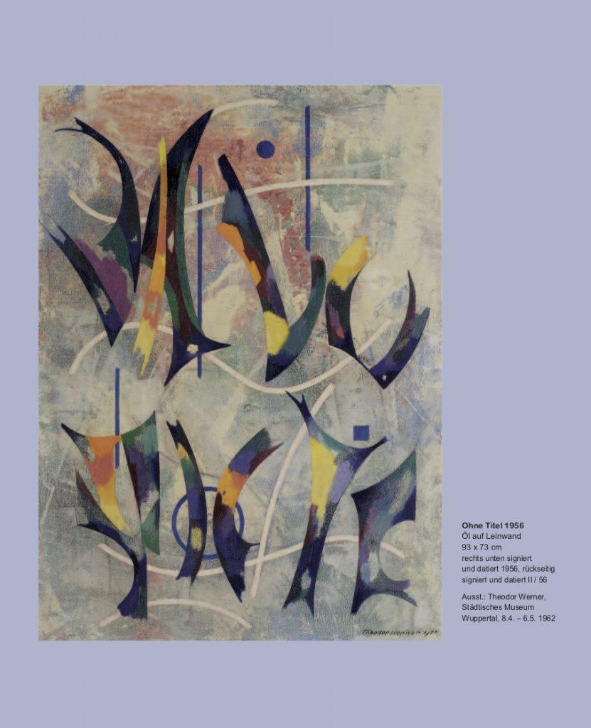 Ausstellung Galerie Maulberger<br>Theodor Werner – Leuchtspur des Lebendigen<br>02.12.-23.12.2011<br><br>Einladungskarte