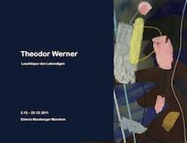 Einladungskarte Ausstellung Theodor Werner 2011 Galerie Maulberger