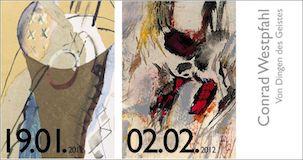 Einladungskarte Ausstellung Conrad Westpfahl 2012 Galerie Maulberger