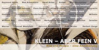Einladungskarte Ausstellung Klein – aber fein V 2012 Galerie Maulberger