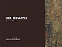 Einladungskarte Ausstellung Karl Fred Dahmen 2012 Galerie Maulberger