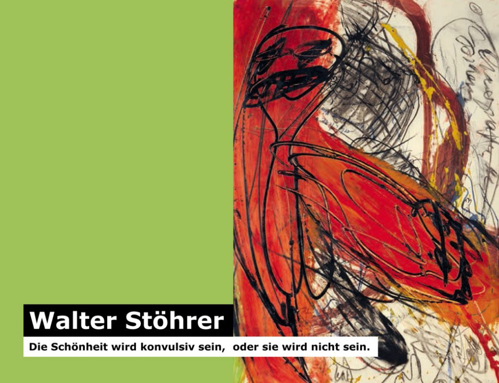 Einladungskarte Ausstellung Walter Stöhrer 2012 Galerie Maulberger 01