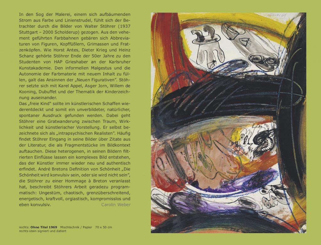 Einladungskarte Ausstellung Walter Stöhrer 2012 Galerie Maulberger 02