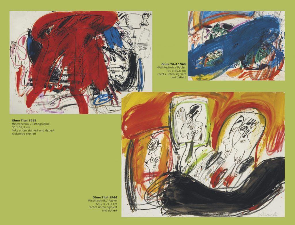Einladungskarte Ausstellung Walter Stöhrer 2012 Galerie Maulberger 03