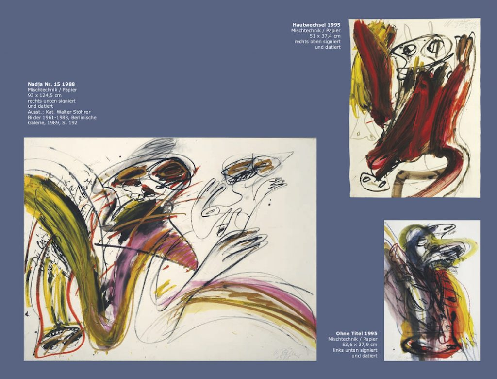 Einladungskarte Ausstellung Walter Stöhrer 2012 Galerie Maulberger 06