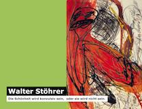 Einladungskarte Ausstellung Walter Stöhrer 2012 Galerie Maulberger