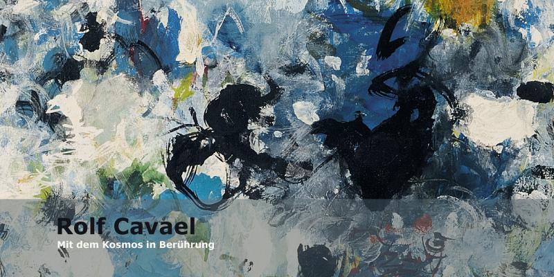 Einladungskarte Ausstellung Rolf Cavael 2013 Galerie Maulberger