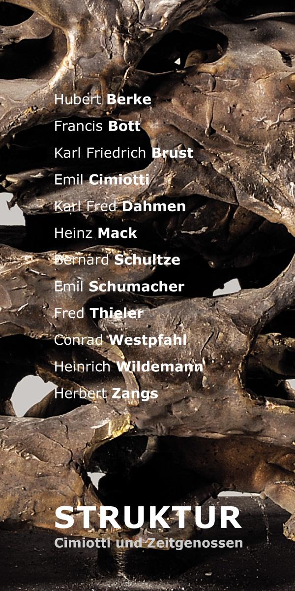 Einladungskarte Ausstellung Struktur – Cimiotti und Zeitgenossen 2013 Galerie Maulberger 01