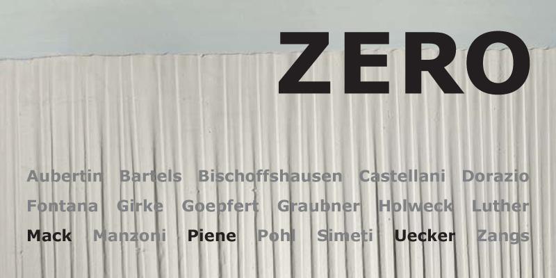 Einladungskarte Ausstellung ZERO 2013 Galerie Maulberger