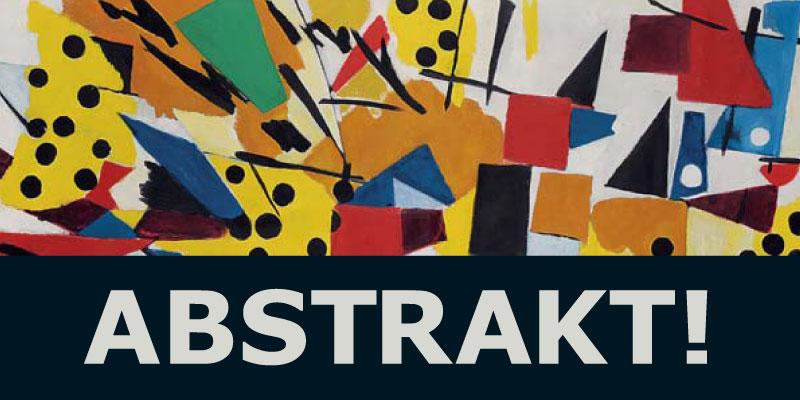 Einladungskarte Ausstellung Abstrakt! 2014 Galerie Maulberger