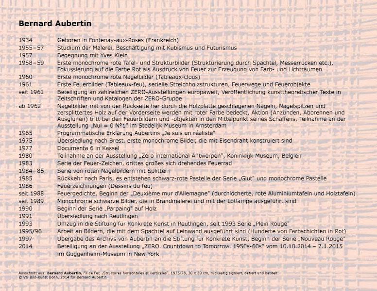 Einladungskarte Ausstellung Bernard Aubertin und Zeitgenossen 2014 Galerie Maulberger 03