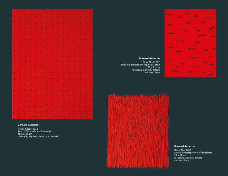 Einladungskarte Ausstellung Bernard Aubertin und Zeitgenossen 2014 Galerie Maulberger 06