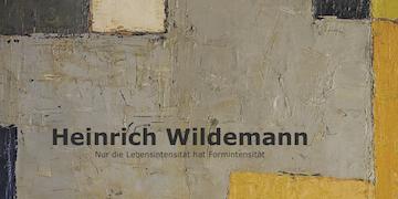 Einladungskarte Ausstellung Heinrich Wildemann 2014 Galerie Maulberger
