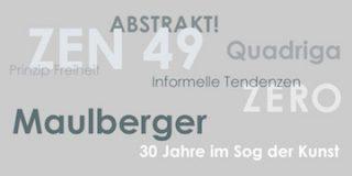 Einladungskarte Ausstellung Maulberger – 30 Jahre im Sog der Kunst 2014 Galerie Maulberger