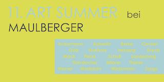 Einladungskarte Ausstellung 11. ART SUMMER 2015 Galerie Maulberger