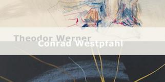 Einladungskarte Ausstellung Theodor Werner / Conrad Westpfahl 2015 Galerie Maulberger
