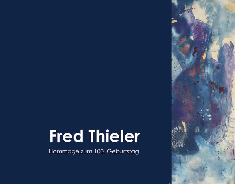 Einladungskarte Ausstellung Fred Thieler Hommage 100 Geburtstag 2016 Galerie Maulberger 01