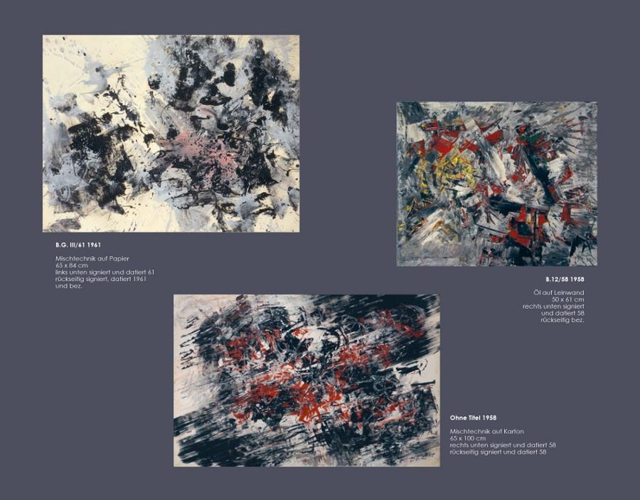 Einladungskarte Ausstellung Fred Thieler Hommage 100 Geburtstag 2016 Galerie Maulberger 03