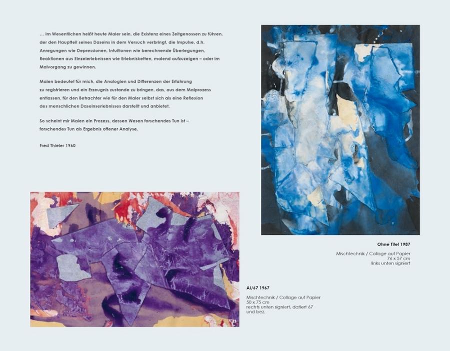 Einladungskarte Ausstellung Fred Thieler Hommage 100 Geburtstag 2016 Galerie Maulberger 04