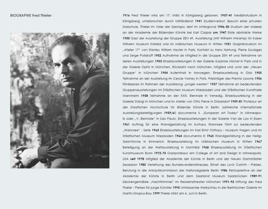 Einladungskarte Ausstellung Fred Thieler Hommage 100 Geburtstag 2016 Galerie Maulberger 05