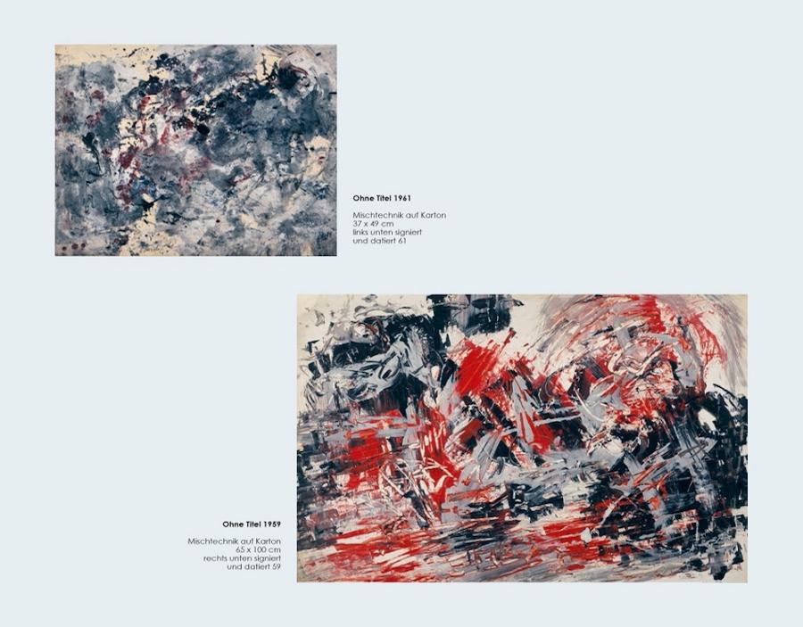 Einladungskarte Ausstellung Fred Thieler Hommage 100 Geburtstag 2016 Galerie Maulberger 06