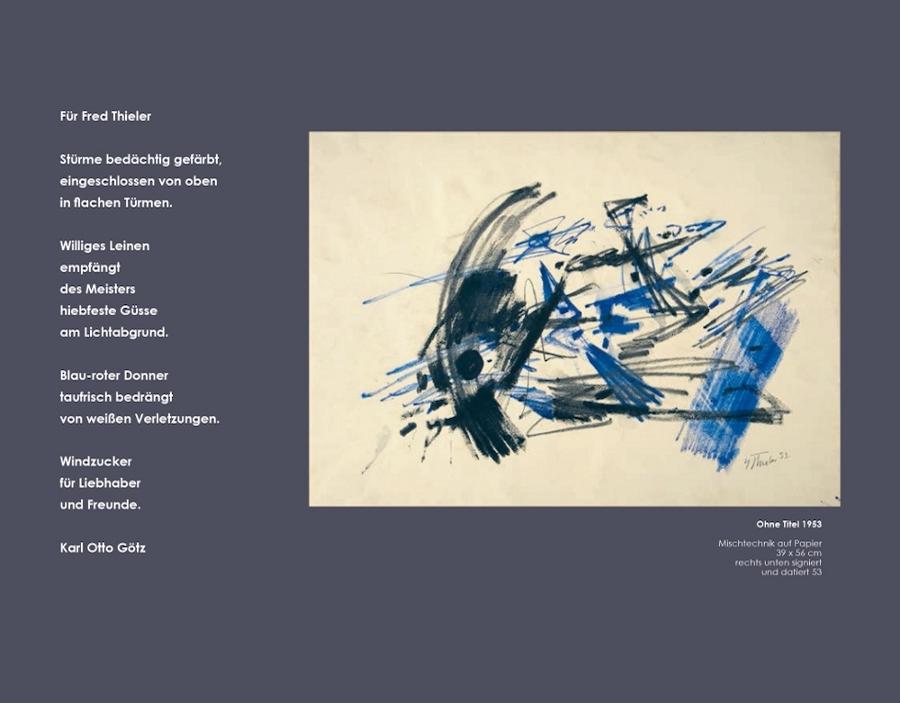 Einladungskarte Ausstellung Fred Thieler Hommage 100 Geburtstag 2016 Galerie Maulberger 07