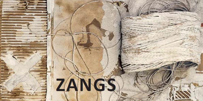Einladungskarte Ausstellung Herbert Zangs 2016 Galerie Maulberger