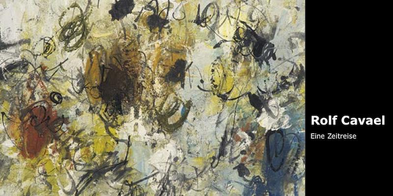 Einladungskarte Ausstellung Rolf Cavael - Eine Zeitreise 2016 Galerie Maulberger