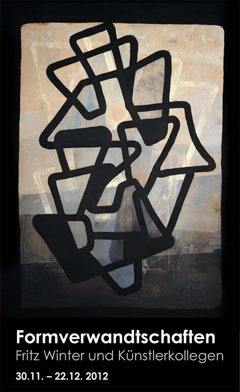 Einladungskarte Ausstellung Formverwandtschaften – Fritz Winter und Künstlerkollegen 2012 Galerie Maulberger