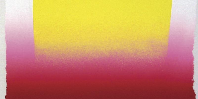 Einladungskarte Ausstellung Künstlergrafik nach '45 - eine Hommage an Rupprecht Geiger 2010 Galerie Maulberger