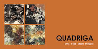 Einladungskarte Ausstellung Quadriga Goetz Greis Kreutz Schultze 2010 Galerie Maulberger